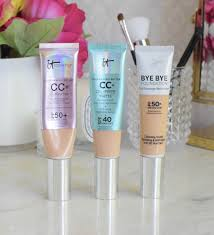 it cosmetics cc cream oil free matte and bye bye foundation