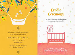 cradle ceremony invitation cards