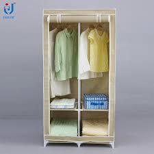 portable metal frame non woven closet clothes storage organizer wardrobe