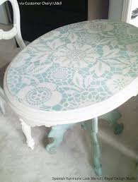 image stencils furniture painting. spanish lace scallop furniture stencil image stencils painting
