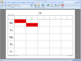 printing text printing weekly timetables asc timetables