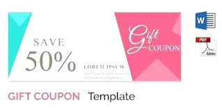 Coupon Format Template For Gift Coupon Template Word Definition Computer Free Download