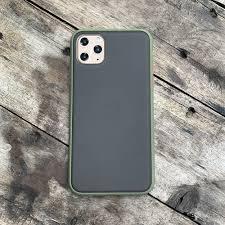 Ốp lưng chống sốc dành cho iPhone 11 Pro Max nút bấm màu cam - Màu xanh |  PS CASE