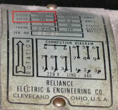 ee mg to conversion checklist note also the direction of rotation arrow and the diagrams showing connections for 220 and 440 volt operation