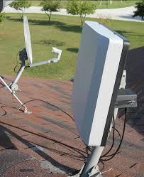 satellite dish mast