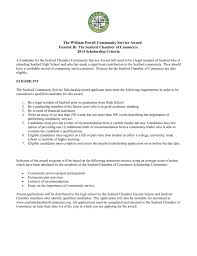 Letter Of Recommendation For Community Service Award Seaford Chamber Community Service Award