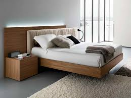 modern king bed frame. Interesting Frame Modern King Size Floating Bed Frame With Upholstered Headboard And Throughout E