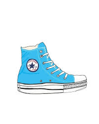 converse shoes clipart. 8 x 10 print - blue shoe. $23.00, via etsy. converse shoes clipart