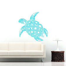 turtle wall decal sea turtle wall decal ocean sea animals decals wall vinyl sticker interior home turtle wall
