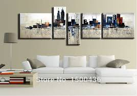 >wall art best images large wall canvas art photo to canvas cheap  hand painted abstract cityscape oil painting on canvas 4 piece modern large wall canvas art city