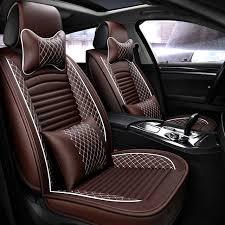 oumanu leather seat cover four seasons universal car seat cushion for mazda 3 6 toyota rav4 hyundai volvo lavida ford all sedan original rpq5