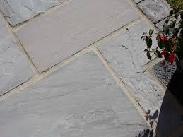 dove grey sandstone patio paving
