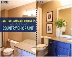 Painting Laminate Cabinets Bathroom Vanity Makeover Using Country Chic Paint Life On