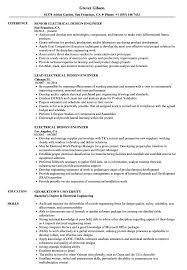 Fpga Design Engineer Resume Electrical Design Engineer Resume Samples Velvet Jobs