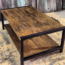 impressive wonderful coffee table reclaimed wood with metal trim regard to and plan 10