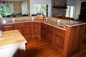Plain Rustic Cherry Kitchen Cabinets R In Design Decorating