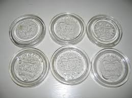 Canning | Vintage CROWN Glass Inserts Canning Jar Lids Canada by VintageABCs