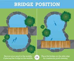 styling your pond and bridge garden bridge
