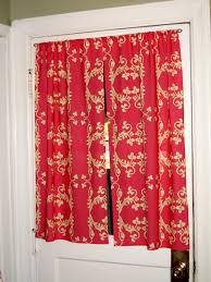Red Curtains For Kitchen Kitchen Cool Jcpenney Kitchen Curtains With White Wooden Framed