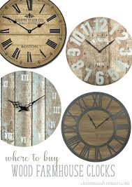 farmhouse wall clock wood farmhouse wall clocks farmhouse wall clock canada