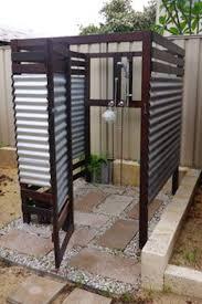 outdoor shower. Open-slate Outdoor Shower