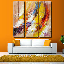 discount modern canvas abstract handpainted oil painting flower throughout the stylish 3 panel wall art for on 3 panel wall art set with discount modern canvas abstract handpainted oil painting flower