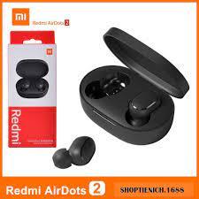 Tai nghe không dây Redmi Airdots 2 - Bluetooth 5.0, True Wireless, nghe  nhạc 4 tiếng, thời lượng 12 tiếng - Tai nghe Bluetooth nhét Tai Nhãn hiệu  No Brand