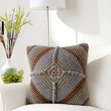 Caron® Tea Cakes™ Granny Square Pillow in English Breakfast