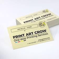 Sales Business Cards Metallic Cream Business Cards Printing 250gsm Urgent
