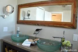 diy mirror frame.  Mirror Bathroom Interesting Diy Mirror Frame With  And