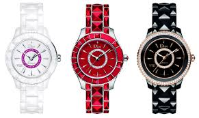 dior jewellery timepieces are chic accessories for summer dior watches and jewellery summer 2013 dior viii crystal red watches
