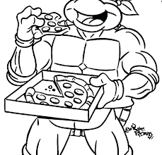 Ninja Turtles Coloring Pages Free Ribnicainfo