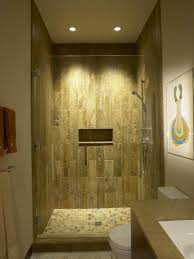 Wonderful Natural Shower Recessed Lighting Design Ideas Displaying Cleanly  Glass Door With Amazing Wall Natural Shades And Ceiling Recessed Light  Beautify ...