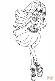 Small Picture Monster High Spectra Vondergeist coloring page Free Printable