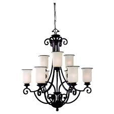 energy star nine light acadia two tier chandelier
