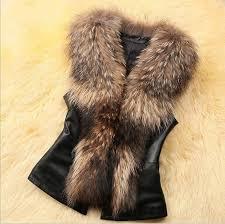 women luxury faux rac dog fur collar sleeveless vest coat faux fur jackets back bowknot with 31 96 piece on blackhorser s dhgate com