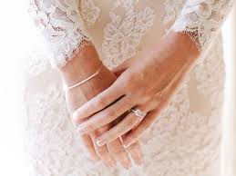 pictures of engagement rings on hands. Plain Engagement Bride With A Diamond Engagement Ring And Lace Wedding Dress And Pictures Of Engagement Rings On Hands R