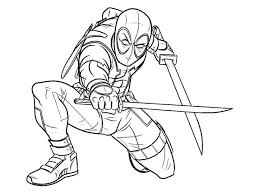Deadpool Coloring Pages Easy Drawing Pictures 22 Get Coloring Page