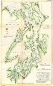 Puget Sound Chart 1867 U S Coast Survey Chart Or Map Of Puget Sound Washington By Paul Fearn