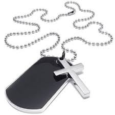 h1 jewelry men s las necklace military cross markers army style dog tag pend