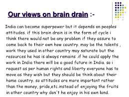 essay on brain drain in