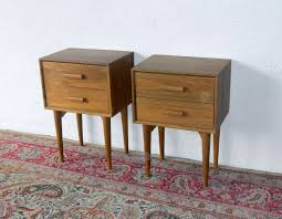 narrow bedside table beech