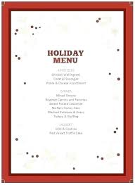 Grand Dinner Party Menu Template Word Food Labels Free