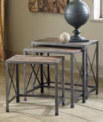 vintage gray  nesting end tables  t occasional tables
