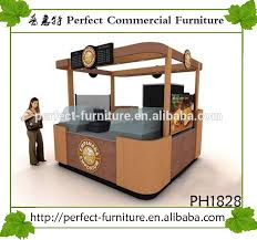 Coffee Shop Display Stands Newly Customized Coffee Shop Furniture Snack Booth Small Food 92