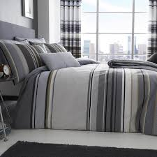 grey striped bedding grey black white striped duvet set pillowcases tj hughes