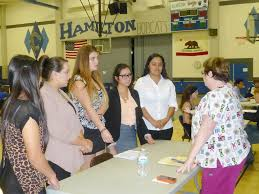 hamilton high freshmen participate in mock interview contest hamilton high school freshman wait for the opportunity to interview in the mock interview contest