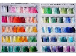 Ebroidery Thread Ryon Color Thread Color Chart Of Yarns