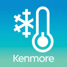 kenmore elite logo. with one click on your smart device kenmore app, connect elite® room air conditioner and control the climate of living space from elite logo
