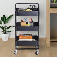 Chart Cart On Wheels Details About 3 Tier Rolling Cart All Purpose Utility Cart Storage Cart Trolley On Wheels W
